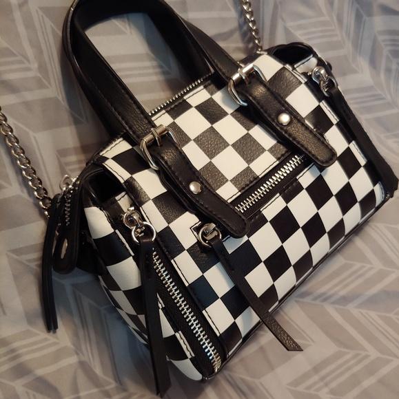025bb8c2eb473 Brand New 🏁 Checker Print Mini Crossbody Purse